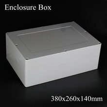(1 piece/lot) 380x260x140mm Grey ABS Plastic IP65 Waterproof Enclosure PVC Junction Box Electronic Project Instrument Case
