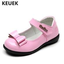 New Black Leather Shoes Children Princess Soft bottom Comfortable Flats Toddler Girls Single Kids Baby Dance 041