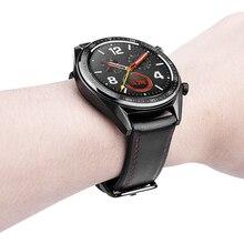 Ширина ремешка 22 мм кожаный браслет для huawei часы GT умные часы бизнес-стиль сменный ремешок 2в1 кожа/силиконовый ремешок
