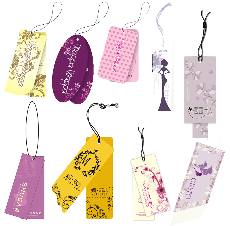 1000pcs lot sewing custom Free Shipping personized hangtags clothing paper swing tag printed tags with Glue