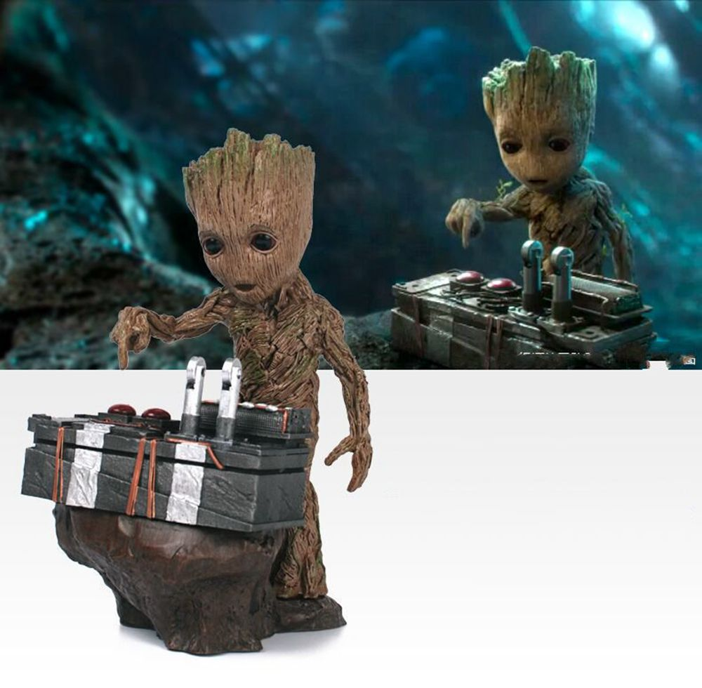 Guardians of the Galaxy 2 DJ Tree Man  Statue Resin Figure Collectible Model Toy 18cm 2016 new arrival the guardians galaxy mini dancing tree man action figure model toy doll