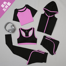 Set 2017 women skirt and blouse garment 5 suit short-sleeved t-shirts fitness quick-drying false two shorts women set tracksuit
