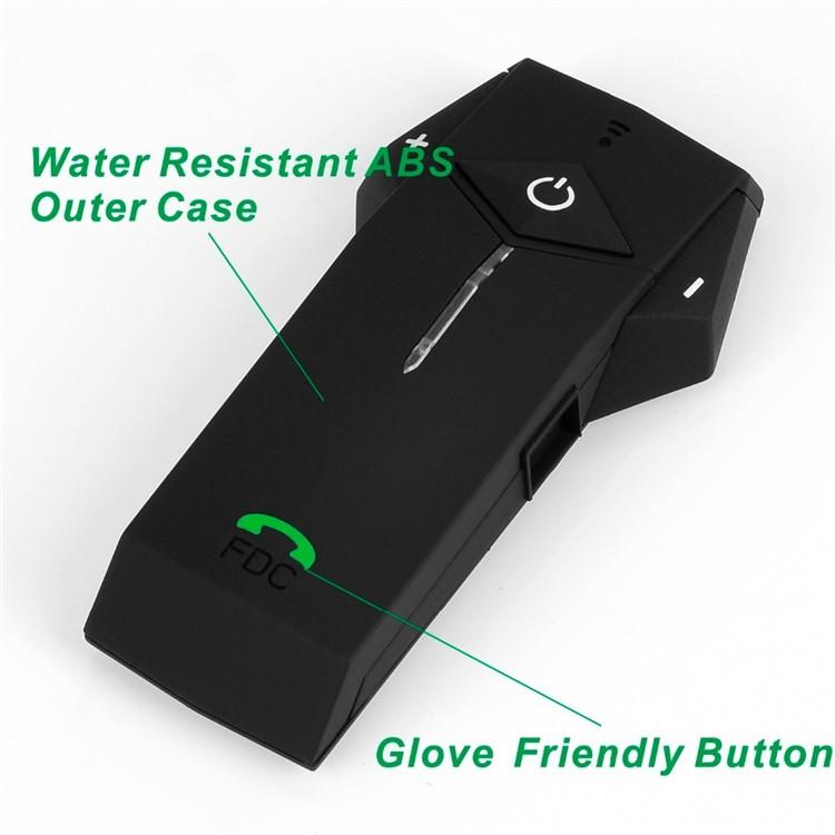1PCS 1000m Motorbike Moto Helmet Bluetooth Intercom Stereo Headset Handsfree BT Interphone Earphones with NFC FM+Remote Control  (7)