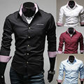 2014 New Spring & Autumn Fashion Easy Care Mens Dress Shirts Casual Long sleeve Slim Fit Social Camisas Masculinas M-XXL