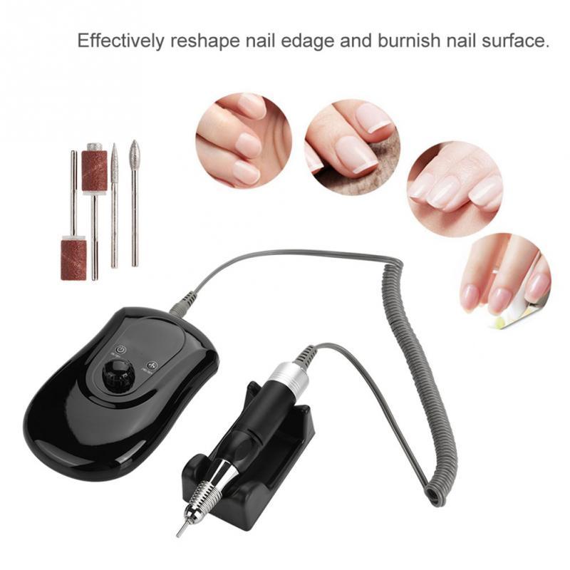 все цены на 30000RPM Electric Nail Drill Manicure Set Professional Drill Tool Nail File Bit Manicure Machine Portable Nail Grinding Machine онлайн