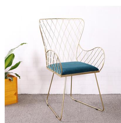 Modern iron art dining chair back to the back of the flannelette dining room chair modern leisure single chair .Modern iron art dining chair back to the back of the flannelette dining room chair modern leisure single chair .