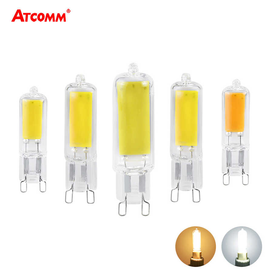 Dimmable G9 LED Light Bulbs 5W 7W 10W 220V COB Glass LED G9 Lamp Replace 45W Halogen Bulb For Pendant Lighting Home Chandeliers