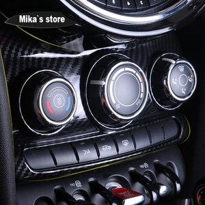 Image 2 - Auto Adesivo Interior Carbon Fiber Center Console Tampa do Interruptor de Botão Decorativo Adesivo Para mini cooper F55 F56 Car styling