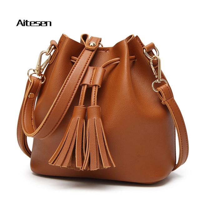Aitesen Women Fsshion Shoulder Handbags Bolsos Obage Louie Bag Feminina Leather Clutch Bolsas Sac