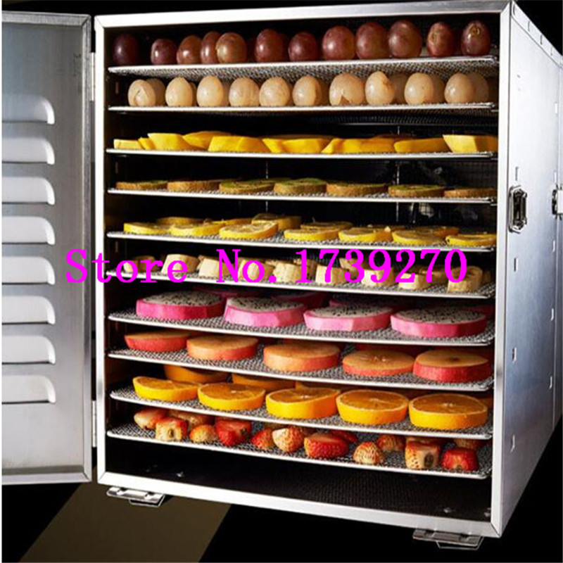 1000W 10-Layers Temperature Control Timer Stainless Steel Food Dehydrator Machine Fruit Dryer for Fruits, Vegetables and Seafood 10 layers stainless steel electric fruit vegetable dehydrator food dryer machine