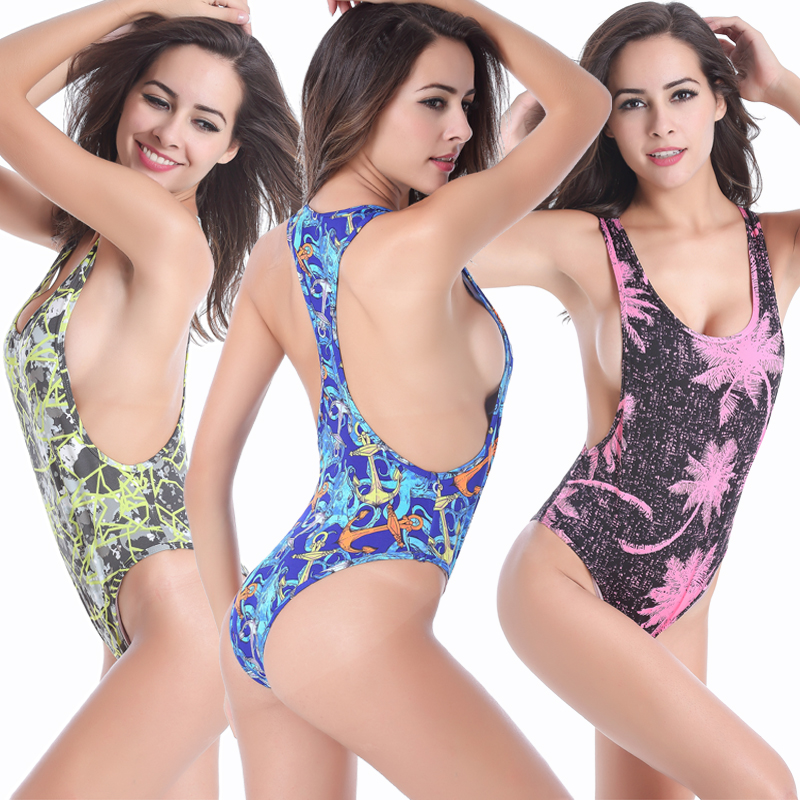 Swimwear 2016 one-piece swimsuit for women maillot de bain Monokini set  padded wire free push up sexy bathing swim suit  VS015 sexy one piece swimsuit women swimwear trikini bathing suit push up monokini padded maillot de bain femme halter beachwear d261