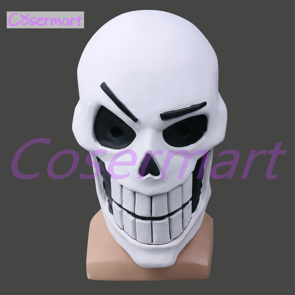 Hot Game Undertale Mask Hard Latex Cosplay Papyrus helmet Full Head Masks Halloween Party Prop (2)
