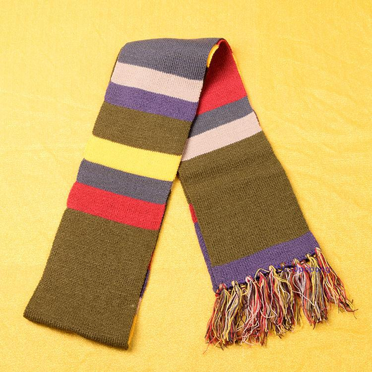 Doctor Who 4th Dr.Tom Baker Anime 6.5 Feet Warm Soft Knitting Cosplay Scarf ...