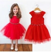 New Girl Christmas Party Princess Dress Girls Floral Diamonds Tutu Dresses Fashion Kid Birthday Holiday Clothing 3-7T