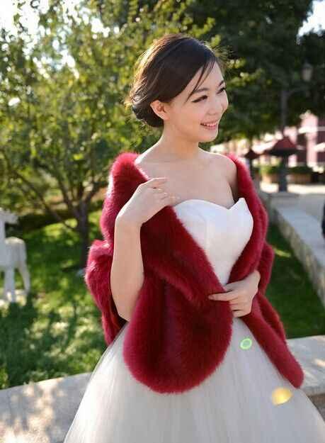 Casacos De Pele 2019 Lông Thú Giả Áo Khoác Áo Khoác Chồn Đảng Bridesmaid Choàng Chiếc Áo Choàng Mùa Đông Phụ Nữ Khăn Choàng Lông Cáo Outwear X804