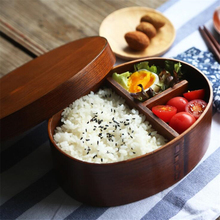 Healthy Wood Lunch Box Japanese Style Bento Boxes 1/2 Layer Portable Picnic Kids Students Food Container Kitchen Accessories