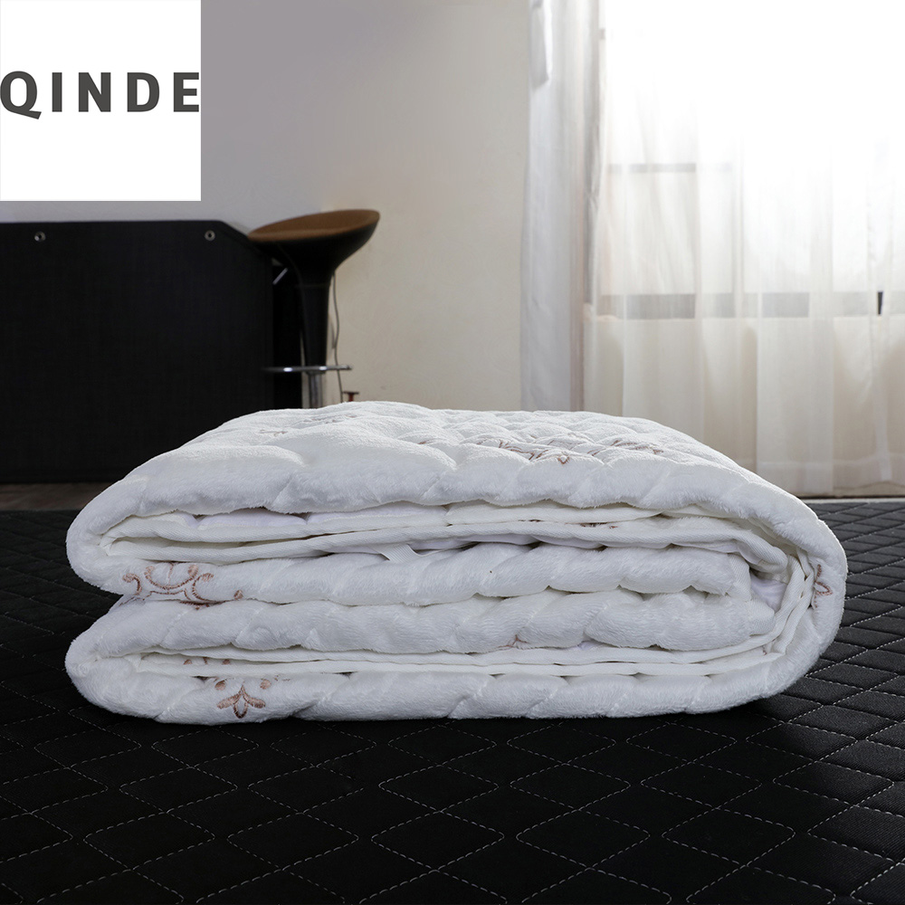 Coconut Mattress Factory top Grade Sheared Fleece Cover Comfortable And Washable  Topper Protector For Home Dormitory Or Hotel 120 200cm 150 200cm feather quilted mattress topper with straps home furniture for home five star hotel soft grey 5cm bedspread