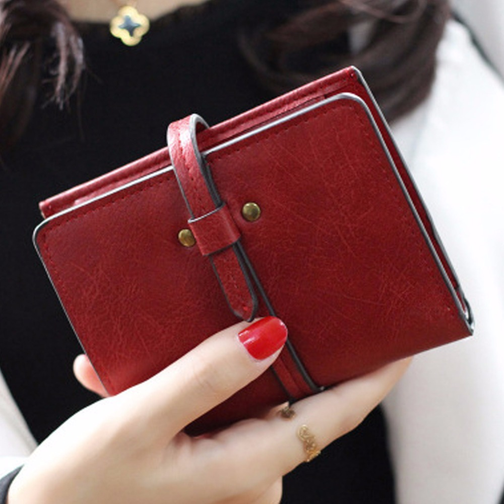 2017 New Fashion Matte PU Leather Wallet Women Vintage short Cion Purse women Wallets Female High quality Card Holder feminina moana maui high quality pu short wallet purse with button