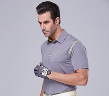 Teetimes Summer Men's Golf Training Garment Sports Quick Dry Golf Polo Shirt Polyester Spandex Short Sleeves Golf Apparel S-2XL