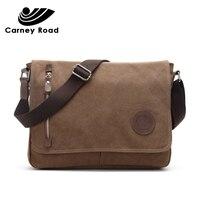 Carneyroad Brand Vintage Canvas Messenger Shoulder bag for Men Casual Travel Teenagers School Bags Handbag