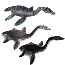 hot deal buy action&toy figures jurassic 3 colors plesiosaur dragon dinosaur pvc collection model plastic dolls animal for kid christmas gift