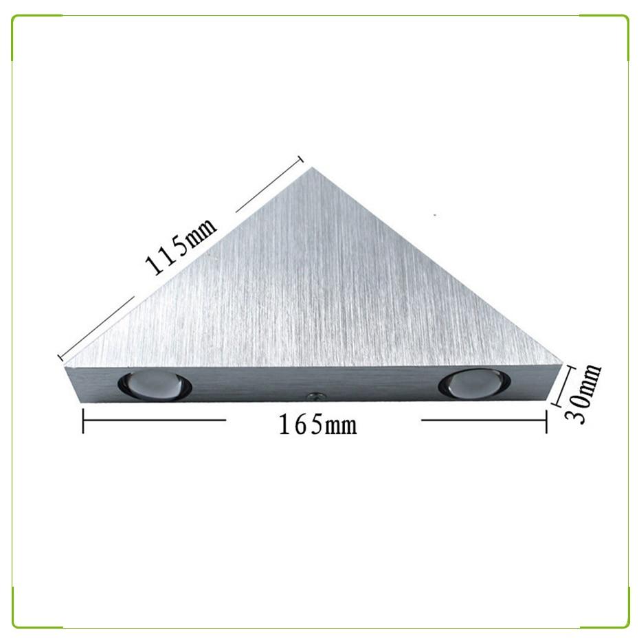 3x 2.6 W Cuisine Pyramide//triangle Spot Light /& Conducteur-Acier inoxydable-Blanc chaud