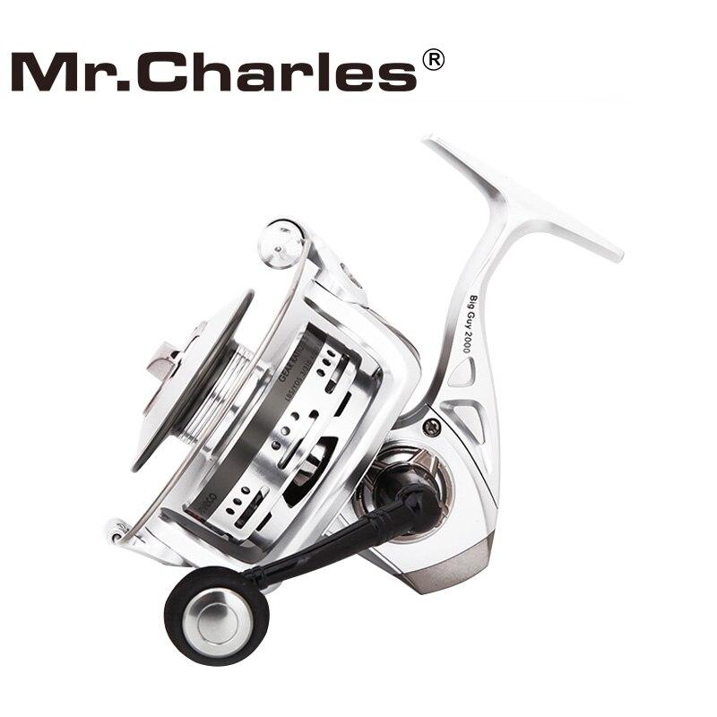 Mr. Charles BigGuy Bobina di Filatura di Pesca, lunga Casting Reel Fishing 5.5: 1 6 + 1BB, Disegno speciale Bobina In Alluminio Per Long Casting