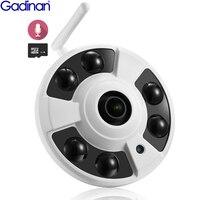 Gadinan IP Camera Wifi Fisheye Panoramic 1080P 720P Audio Recording Support Motion Detector Built in SD Card Slot Yoosee