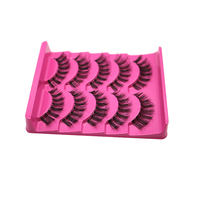 Hot Sale 50 Pairs Handmade Fashion Beautiful Cross False Eyelashes Long Thick Natural Fake Lash Free