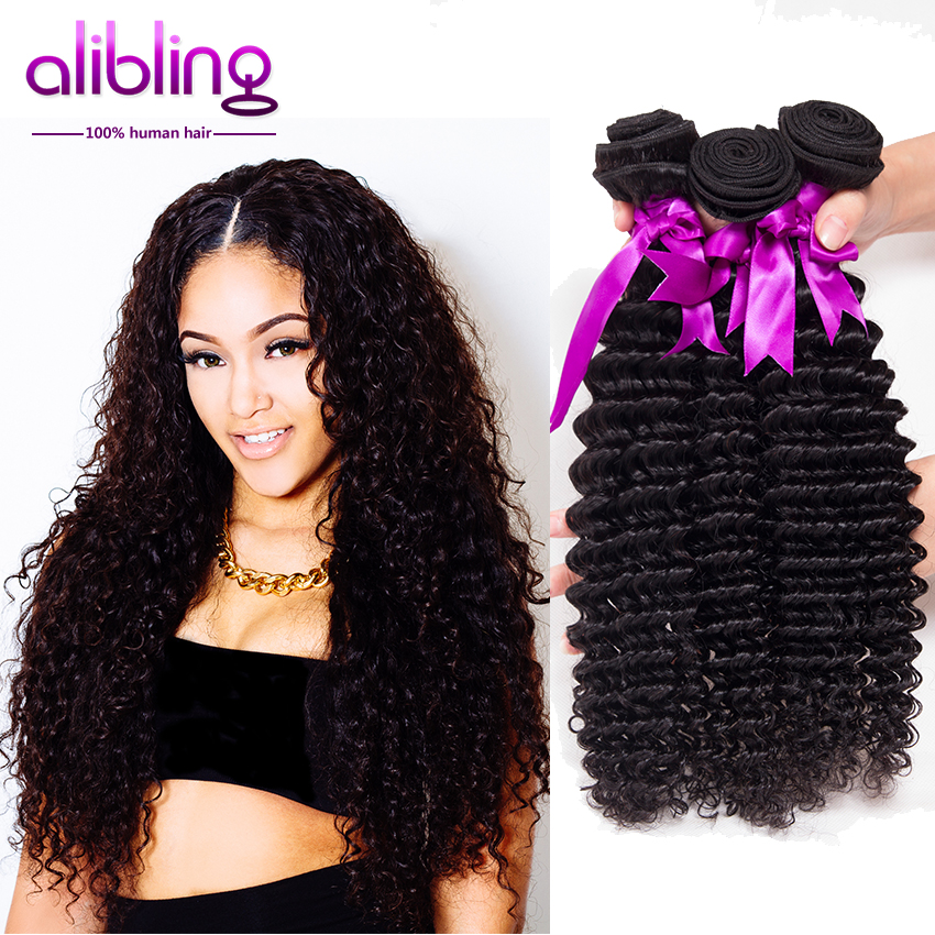 8A Grade Brazilian Deep Wave 3 Bundles Annabelle Hair Virgin Unprocessed Curly Weave Human