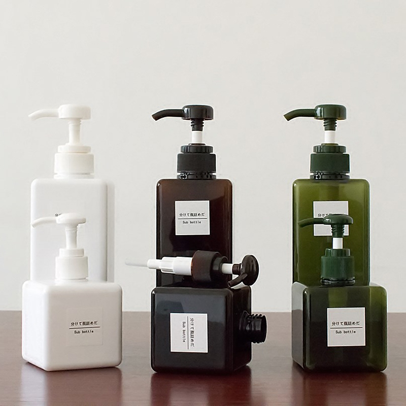 Soild Color Soap Dispenser Cosmetics Bottles Bathroom Hand Sanitizer Shampoo Body Wash Lotion Bottle Empty Bottle Travel Bottle