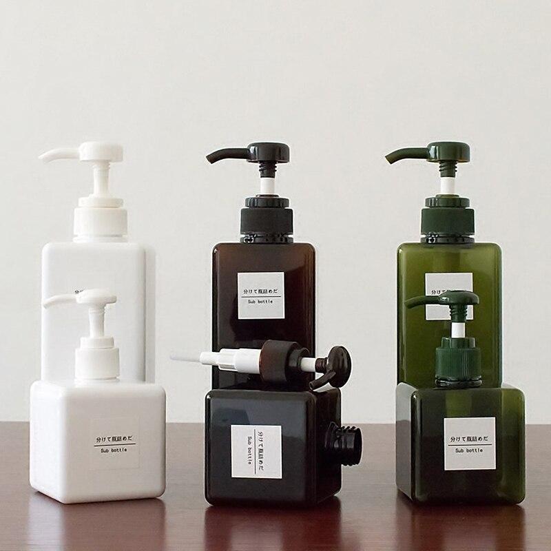 Soild Farbe Seife Dispenser Kosmetik Flaschen Bad Hand Sanitizer Shampoo Körper Waschen Lotion Flasche Leere Flasche Reise Flasche