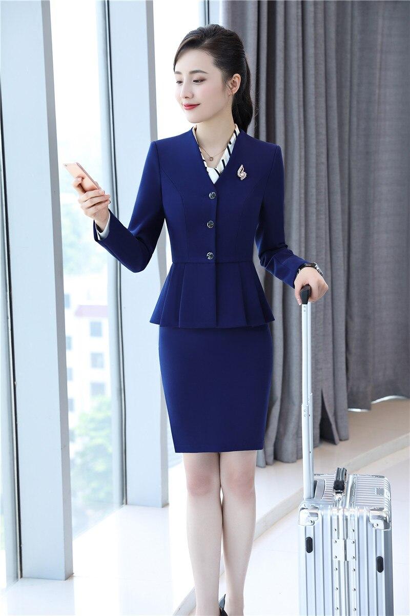 Bureau Styles Bleu Formelle Femmes Conceptions Ensembles Et Dames Jupe Noir Veste Uniforme Costumes Blazer pourpre marine D'affaires ORqwOv1