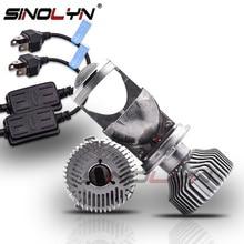 Sinolyn bi led obiektyw led H4 9003 reflektor projektora soczewki Mini 1.5 60W 5000K Tuning samochodów lampa do motocykla akcesoria modernizacja