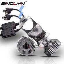 Sinolyn ثنائية led عدسة LED H4 9003 مصباح أمامي لجهاز الإسقاط العدسات Mini 1.5 60 واط 5000 كيلو ضبط سيارة مصباح دراجة بخارية اكسسوارات التحديثية