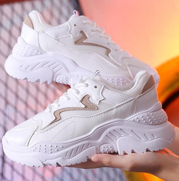 Women Casual Shoes Spring Comfortable Breathable Mesh Fashion Women Shoes White Female Platform Sneakers Women Size 35-40