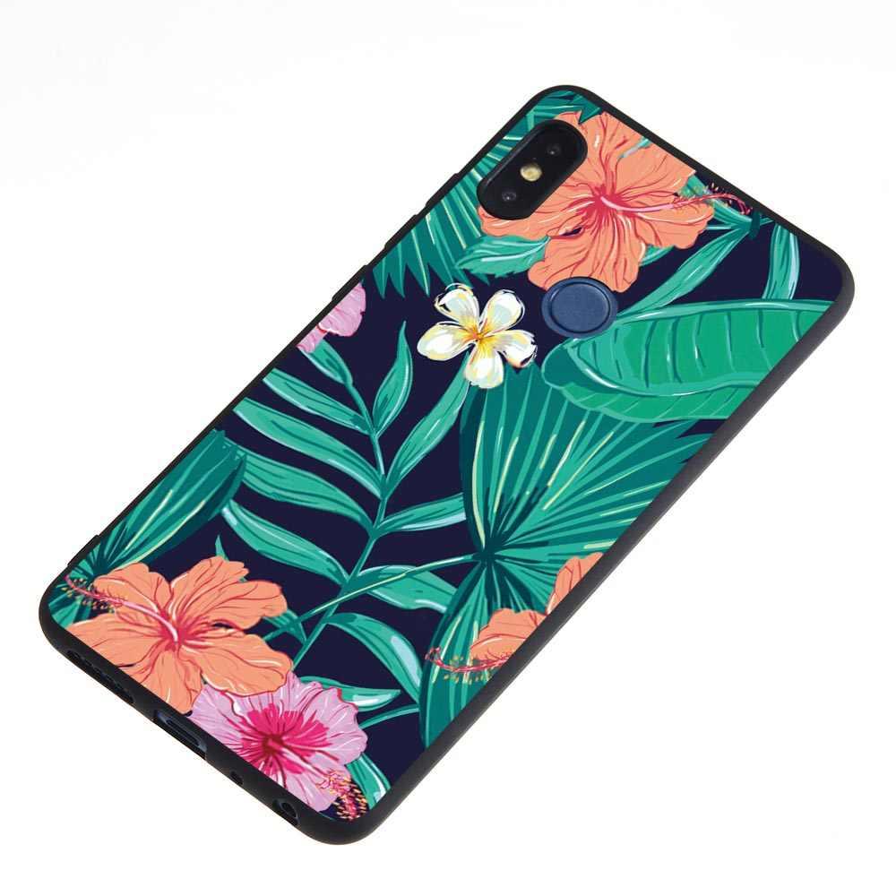 Para redmi nota 6 pro 6a s2 caso de telefone de luxo para xiaomi 6 5x6x8 se 8se a1 a2 flamingo pássaro flor folhas amor coração caso capa