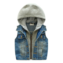 Baby with a hood vest 2016 autumn male children