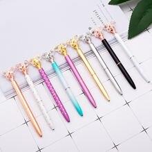 Kawaii Шариковая ручка металлическая шариковая алмазная модные