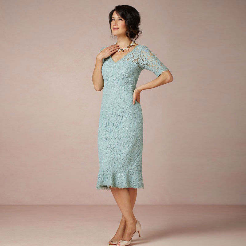 Short Mother Of The Bride Dresses Mermaid Grooms Mother