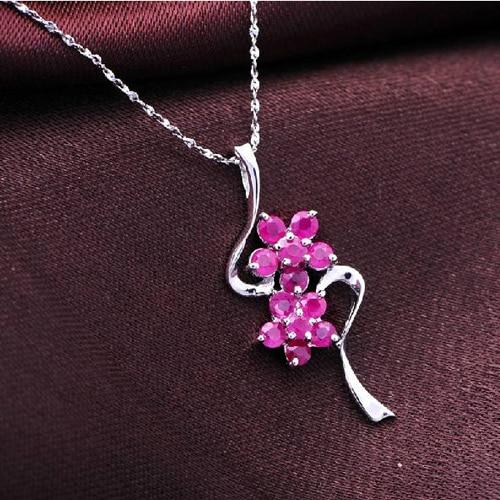 Ограниченное количество колье Qi Xuan_Red Stone цветок кулон ожерелье_ Настоящее ожерелье_ качество guaranteed_производитель напрямую