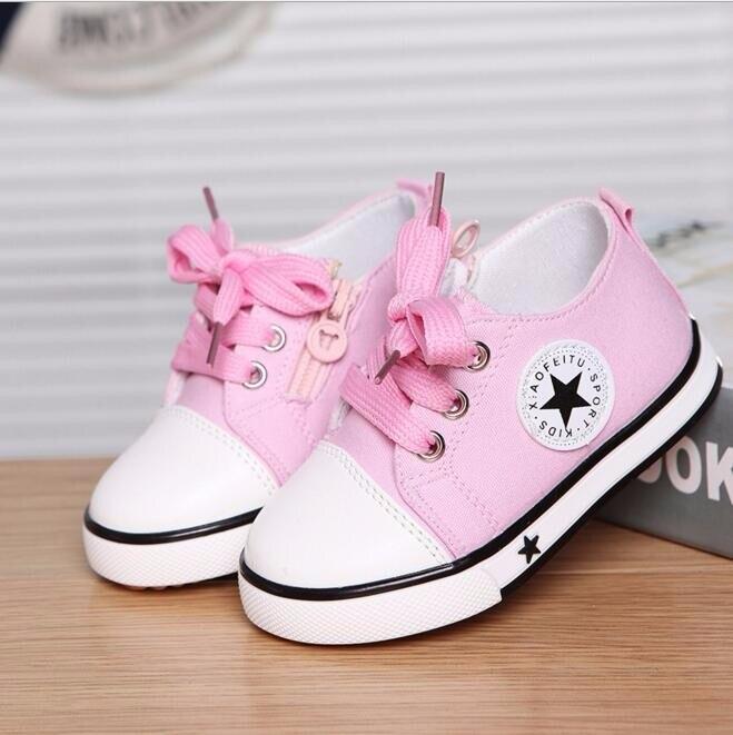 2017 Nem Summer Spring Canvas obuwie dziecięce Star Fashion Sneakers - Obuwie dziecięce - Zdjęcie 3