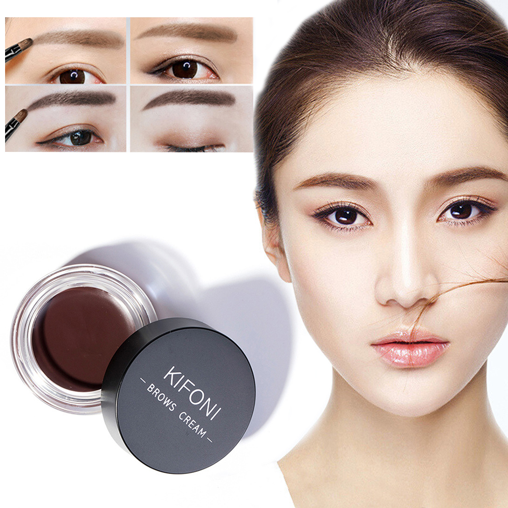 NEW 5 Colors Eyebrow Tint Makeup Waterproof Pomade Gel Long lasting 3D Natural Brown Eye Brow Enhancer Cream With Brush TSLM2 1