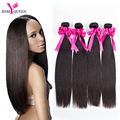 7A Unprocessed Virgin Straight Hair Weave Cheap Indian Virgin Hair Straight 4 Bundles Indian Human Hair Extensions high quality