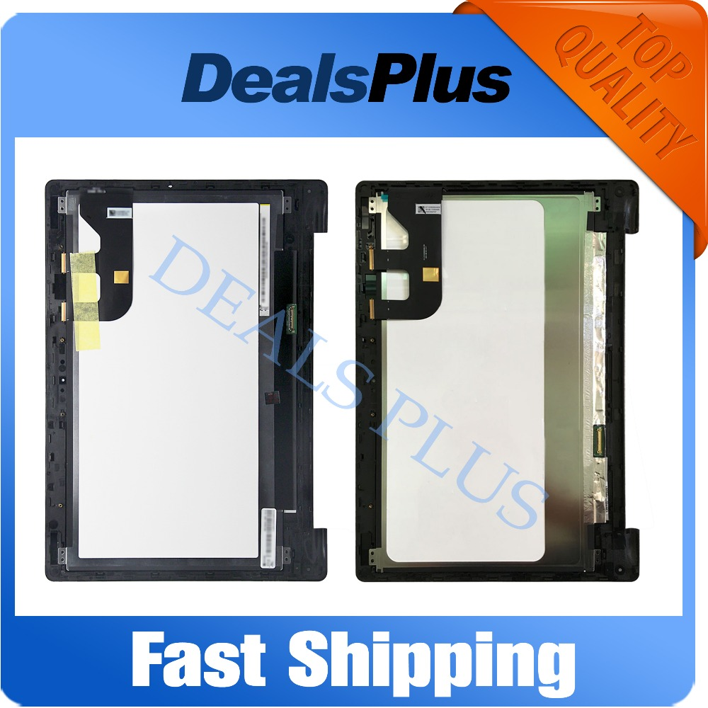 Replacement New LCD Display Touch Screen+Frame Assembly For Asus Transformer Book TP300LA TP300LD HB133WX1-402 Free Shipping 11 6 lcd display monitor touch panel screen digitizer glass assembly with frame for asus transformer book t200 t200ta