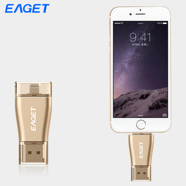Eaget i50 OTG USB 3.0 Flash Drive OTG Pendrive 32G 64G Micro Interface for iOS and USB 3.0 for Computer PC for Tablet for iPhone