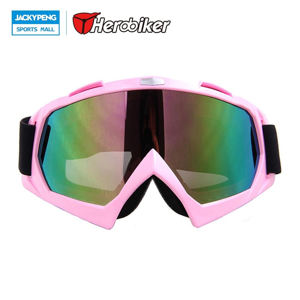 HEROBIKER Outdoor Windproof Goggles Ski Goggles Dustproof Snow Glasses Motocross Off-Road Downhill Eyewear T815-7 for Women