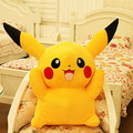 lovely Pikachu plush toy yellow colour toy Pikachu doll gift  about 40cm