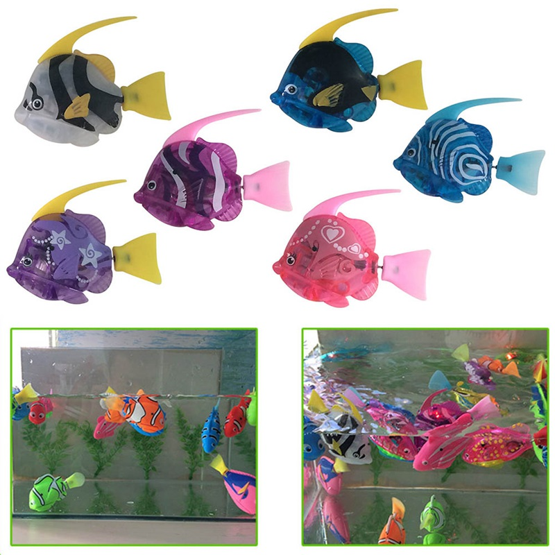 2019 New 1 Pcs  Baby Toys Swimming Led Light Fish Activated Battery Powered  For Bathing Electronic Pets