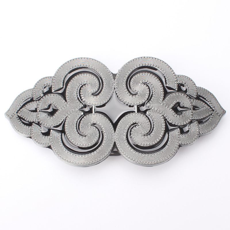 Striped Cloud Shaped Belt Buckle  Fashion Belt Buckle
